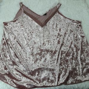 Women's Torrid Size Plus 6 Lace Tank Top Cami Pink
